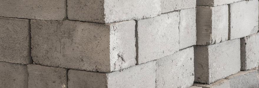 blocs de béton traditionnels