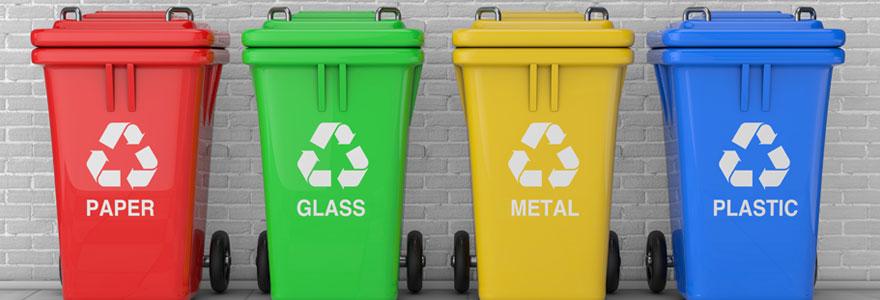 Différents types de conteneurs poubelles