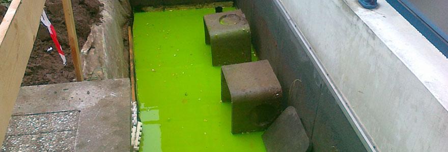 Recherche de fuite fluorescéine