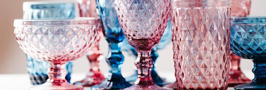 verrerie colorés